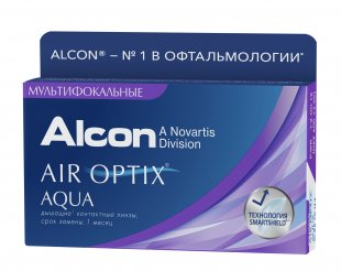 Air Optix Aqua Multifocal, 3 линзы